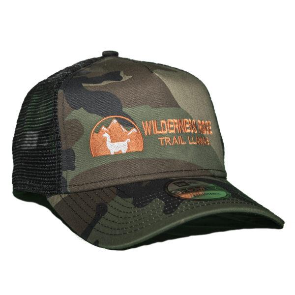 camo ranger hat - black mesh