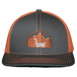 grey hat orange mesh