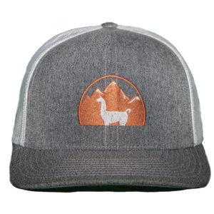 light grey hat white mesh