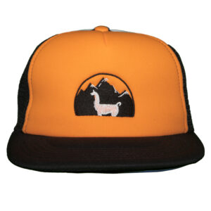 orange soft hat - black mesh