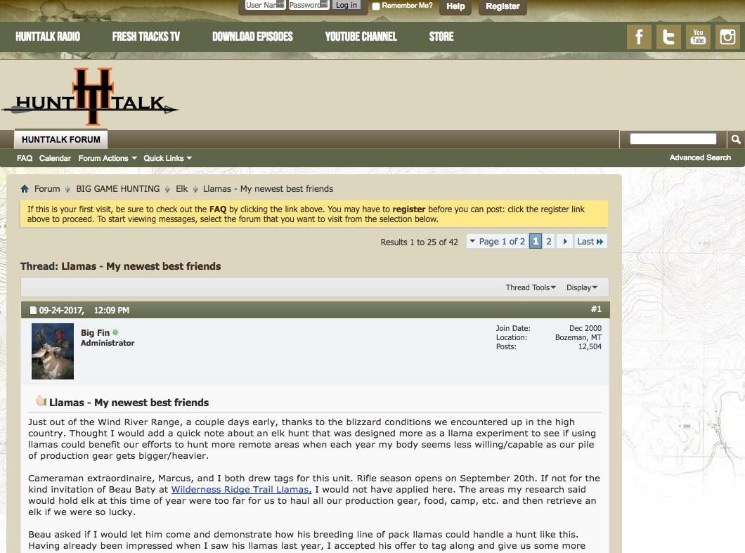 Randy Newberg's llama hunting review