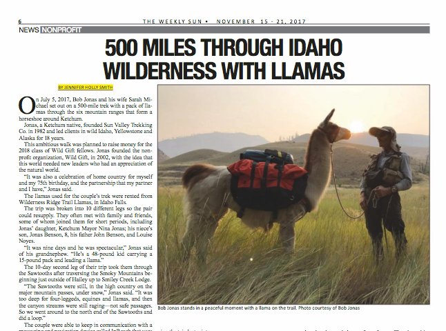500 Miles Through Idaho Wilderness With Llamas