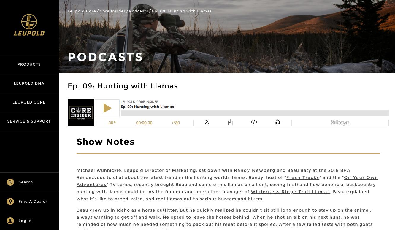 Hunting with llamas